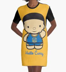 HELLO CURRY Graphic T-Shirt Dress