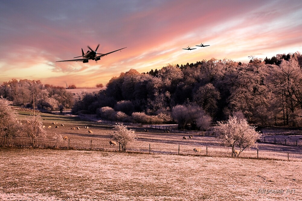 A Cold Winters Morning  by Airpower Art