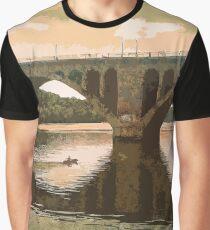Georgetown Bridge Washinton DC Sepia Graphic T-Shirt