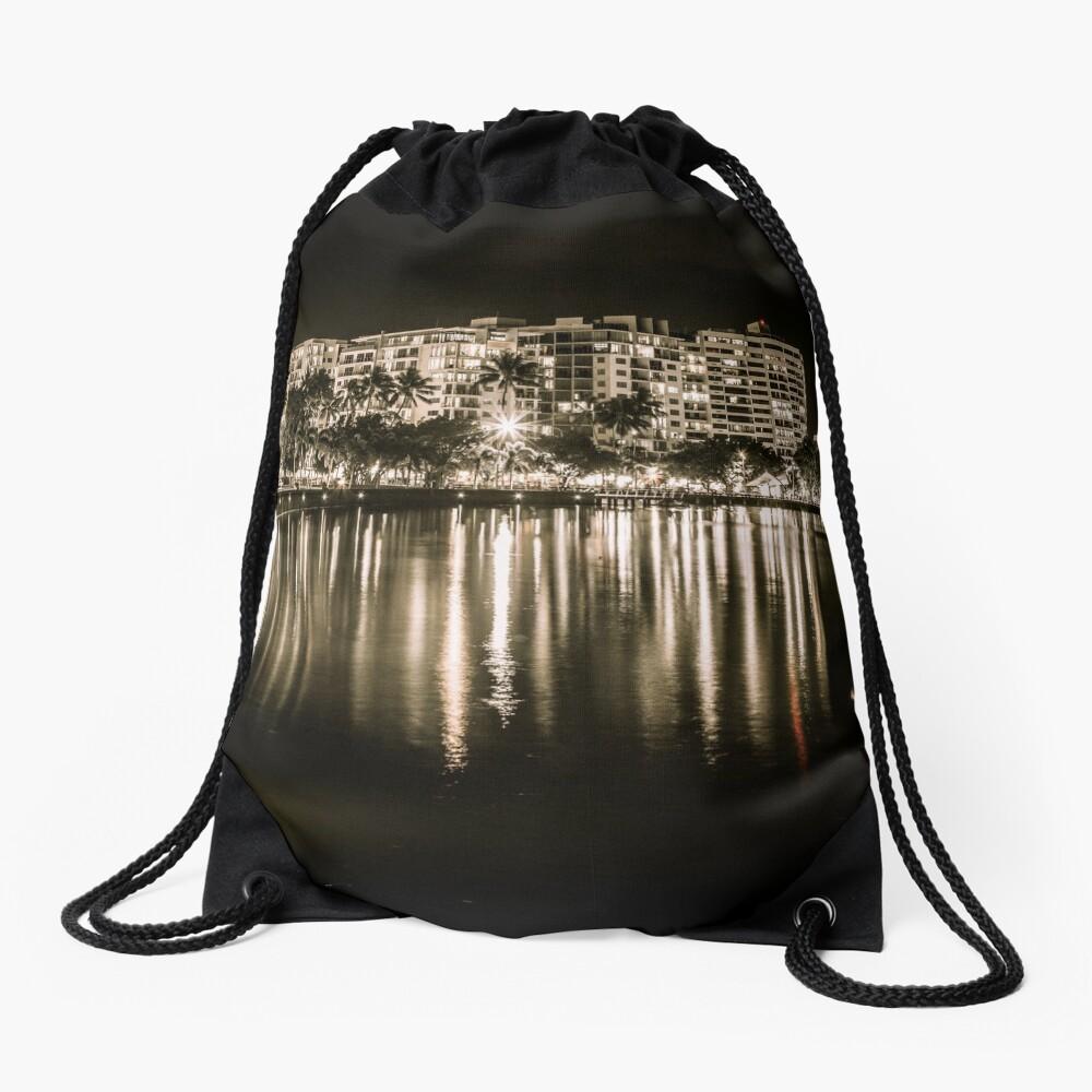 Cairns at Night Drawstring Bag