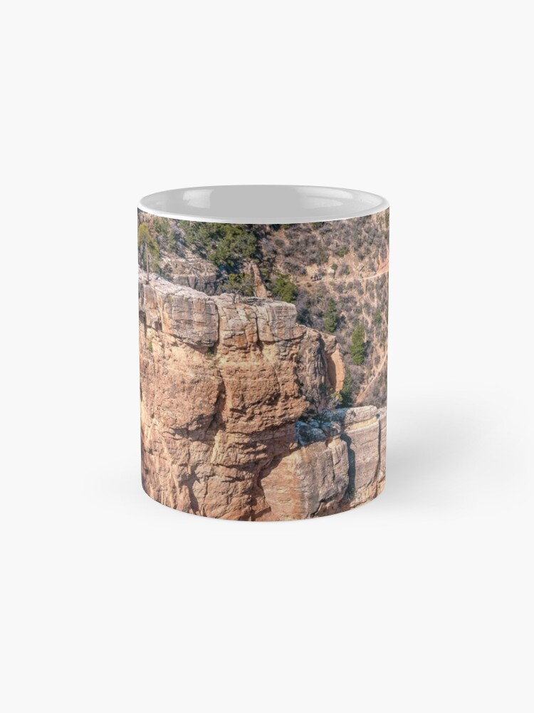 Alternate view of Angel's Window Rock on Bright Angel Trail in Grand Canyon Mug