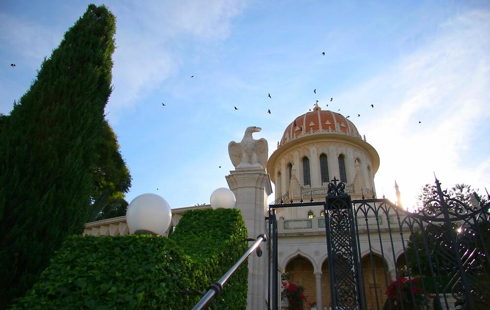 Shrine of the Bab Closeup-Mt Carmel, Haifa, Israel by Anthony  Ket