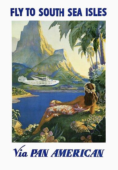 Fly To South Seas Isles Via Pan American by vintagetravel