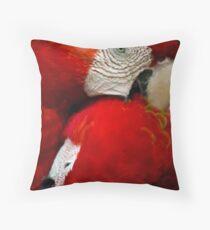 Scarlet Macaws Throw Pillow