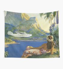 Fly To South Seas Isles Via Pan American Wall Tapestry