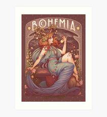 Lámina artística Art Nouveau BOHEMIA
