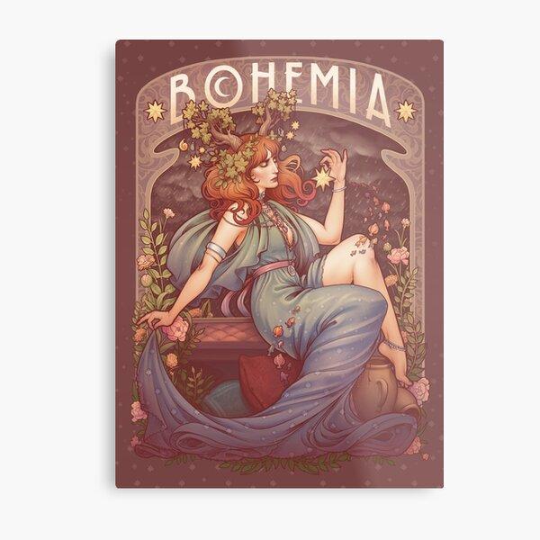 Art Nouveau BOHEMIA Metal Print