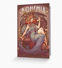Art Nouveau BOHEMIA Greeting Card