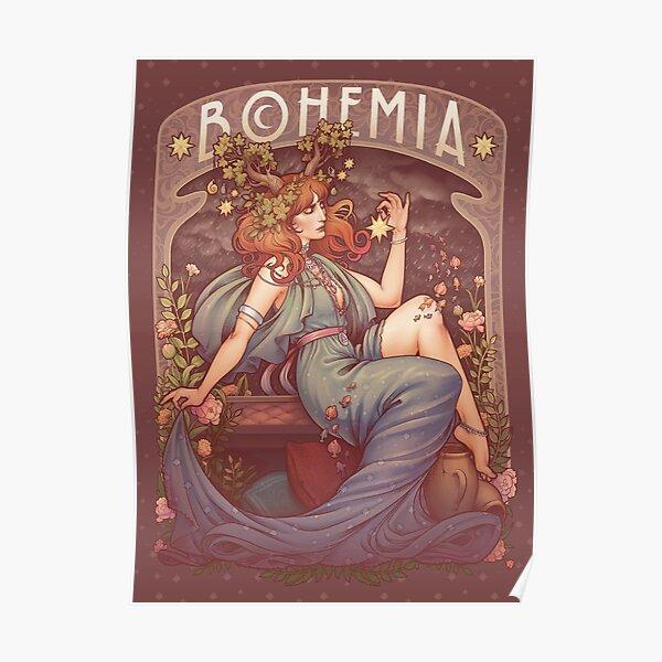 Art Nouveau BOHEMIA Poster