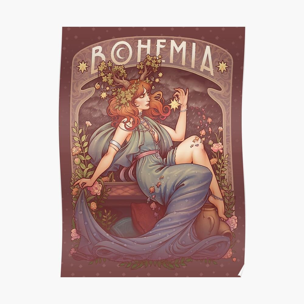 Art Nouveau BOHEMIA Póster