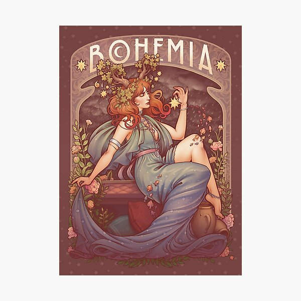Art Nouveau BOHEMIA Photographic Print