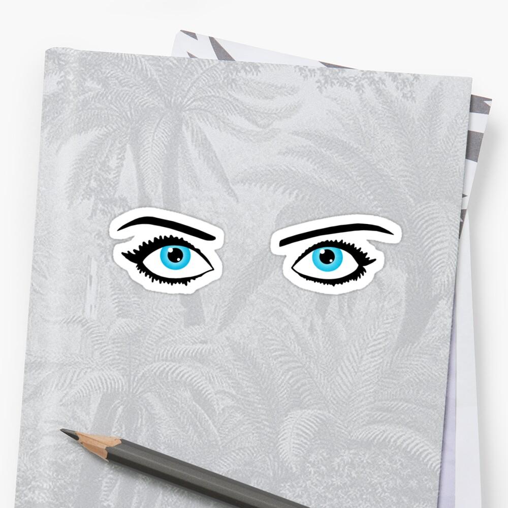 Bette Davis Eyes Stickers By Goldsouls Redbubble Eye