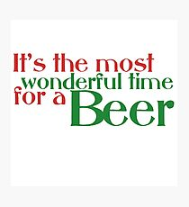 Funny Christmas Beer Parody Photographic Print
