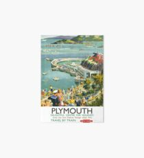 Plymouth Delightful Centre For Holidays Art Board