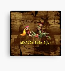 Destroy Them All with background Canvas Print
