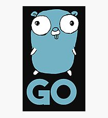Golang Gopher GO ,Lang Programming Programmer IT CS Photographic Print