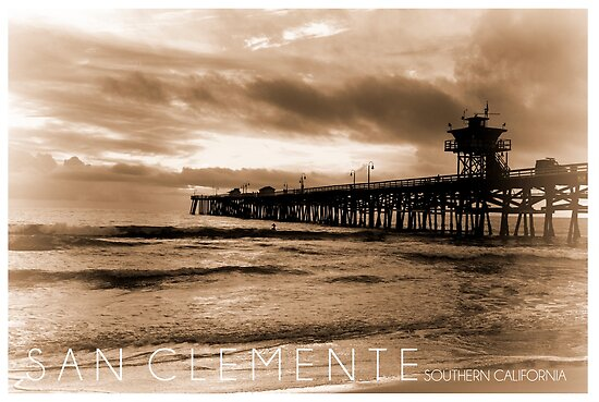 San Clemente Poster by K D Graves Photography