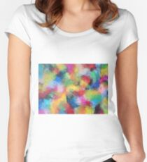 """In a Dream No.3"" original abstract artwork by Laura Tozer Women's Fitted Scoop T-Shirt"