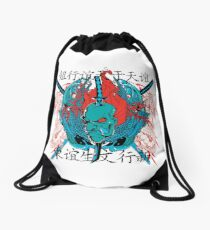 Samurai Hero Drawstring Bag