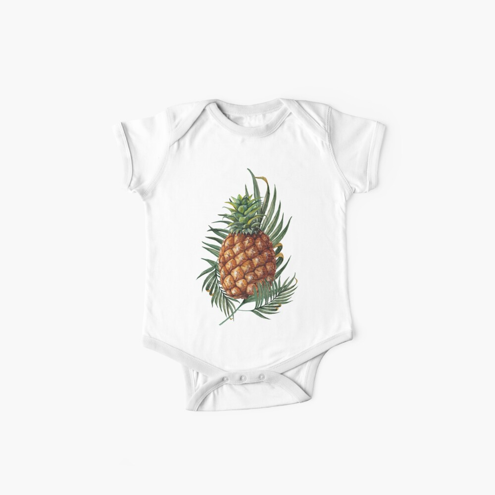 King Pineapple Baby One-Pieces