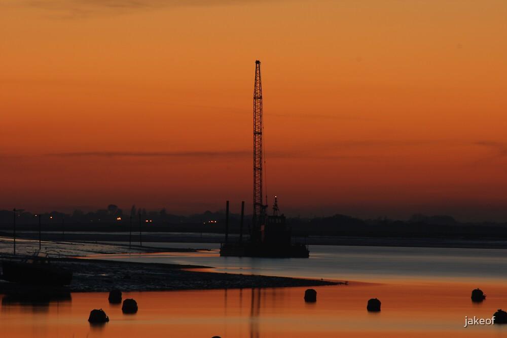 Rigged Sunset by jakeof