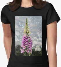 Dangerous Beauty - Exquisite, Elegant Poisonous Foxglove Womens Fitted T-Shirt