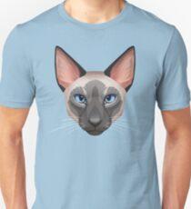 Siamese Cat Face Unisex T-Shirt