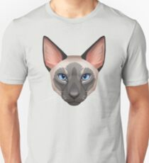 Siamese Cat Face Unisex T-Shirt