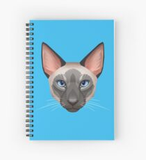 Siamese Cat Face Spiral Notebook
