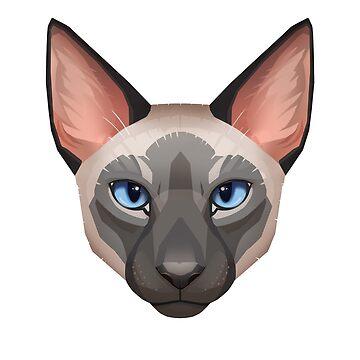 Siamese Cat Face by PaulaLucas