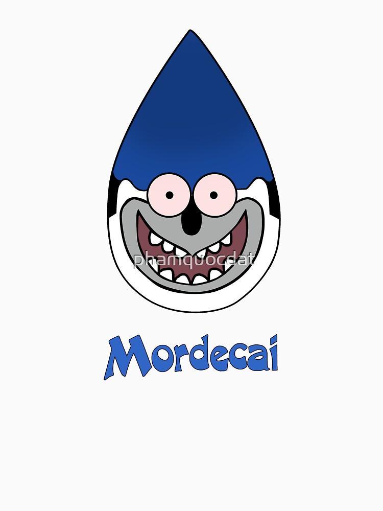 Regular show t_shirt cartoon, Mordecai by phamquocdat