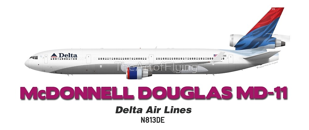 McDonnell Douglas MD-11 - Delta Air Lines by TheArtofFlying