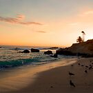 Laguna Beach at sunset by K D Graves Photography