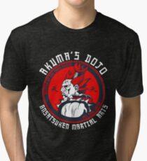 Akuma's Dojo - Street Fighter Tri-blend T-Shirt