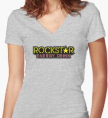 Rockstar Women's Fitted V-Neck T-Shirt
