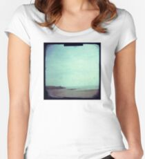 Deserted beach Women's Fitted Scoop T-Shirt