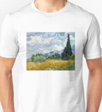 Wheat Field with Cypresses - Vincent van Gogh Unisex T-Shirt