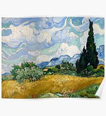 Wheat Field with Cypresses - Vincent van Gogh Poster