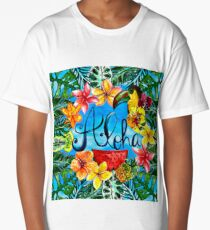 Aloha - Tropical Flower Food and Animal Summer Design on #Redbubble Long T-Shirt