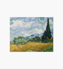 Wheat Field with Cypresses - Vincent van Gogh Art Board