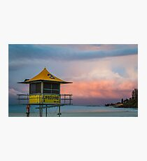 Lifeguard tower at beach Photographic Print