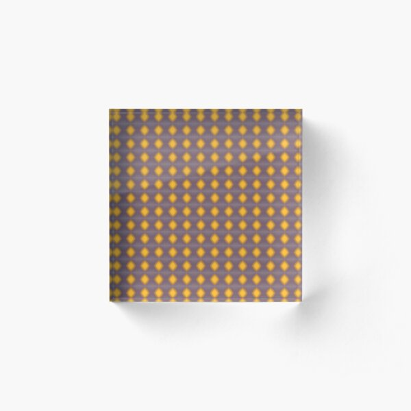Yellow and violet stars. Acrylic Block