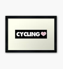 Cycling Framed Print