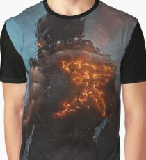 Akuma Street Fighter Poster Kanji Graphic T-Shirt