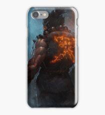 Akuma Street Fighter Poster Kanji iPhone Case/Skin