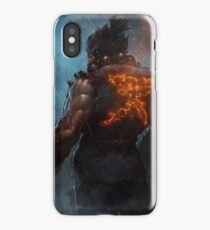 Akuma Street Fighter Poster Kanji iPhone Case/Skin