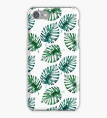 Tropical Monstera Leaves Pattern on #REDBUBBLE iPhone Case/Skin