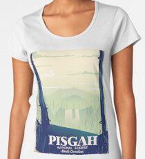 North Carolina Pisgah national park travel poster Women's Premium T-Shirt