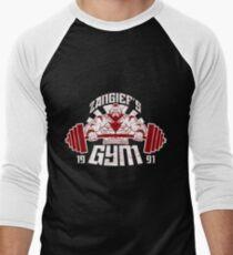 Zangief's Gym 1991 Street Fighter  Men's Baseball ¾ T-Shirt