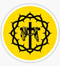 Crown of thorns and the cross of Jesus Christ Sticker